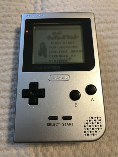 1 of 1 - Nintendo Gameboy Pocket Console * Silver * MGB-001 New Screen & Case