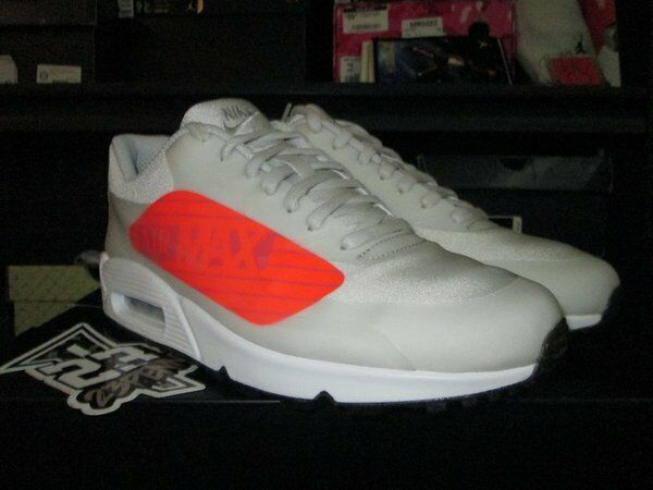SALE NIKE AIR MAX 90 NO SWOOSH NS GPX BIG LOGO GREY BRIGHT CRIMSON AJ7182 001