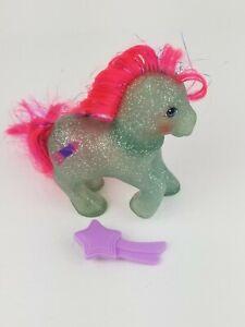 My Little Pony MLP G1 Vtg Sparkle SKY ROCKET Glitter Tinsel with Star Brush