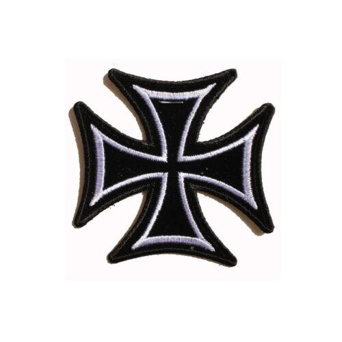 Biker Chopper Skinny Iron Cross Eisernes Kreuz Aufbügler Aufnäher Patch NEU