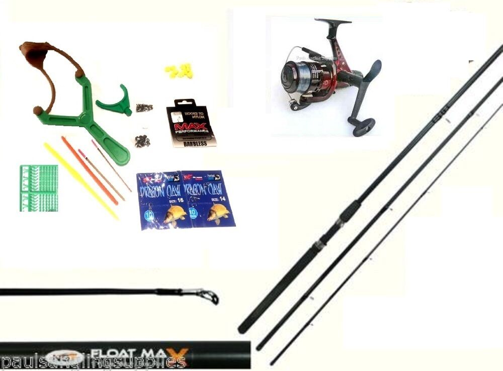 Junior Fishing Outfit Set Kit 10 ft NGT Rod Sol  Reel Hooks Floats Shot Caty