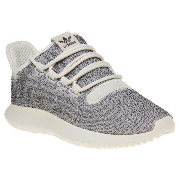Neu - damen adidas grau tubuläre schatten stoff sneaker joggingschuhe