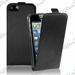 h lle cover pu schwarz stil echtleder apple iphone 5se. Black Bedroom Furniture Sets. Home Design Ideas