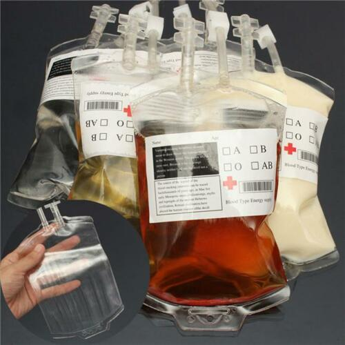 Good Quality Blood Energy Drink Bag Vampire Props Unique Health Beverage Bag YD