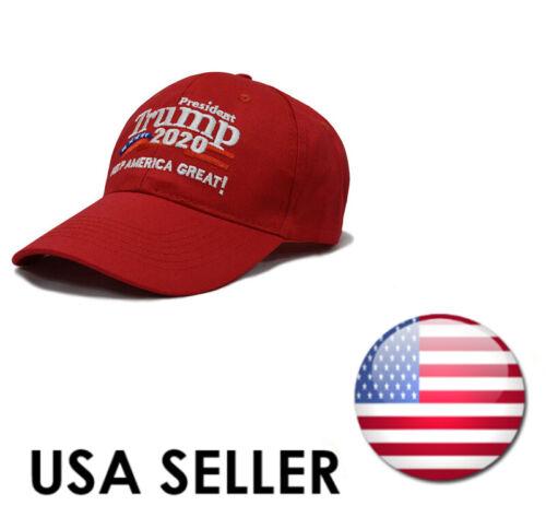 Trump 2020 Keep America Great Cap MAGA President Election Hat Black//Red USA