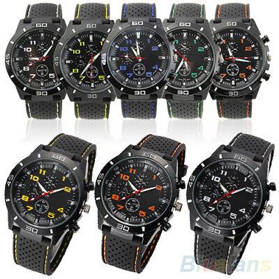 SchöN Asamo Herren Damen Armbanduhr Mit Silikon Armband Uhr Analog Quartz Sport Ama062 SpäTester Style-Online-Verkauf Von 2019 50%