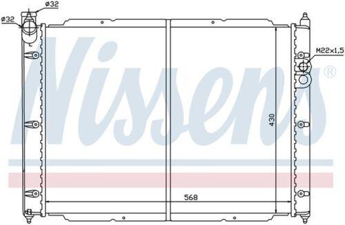 Radiator Front Nissens 65239 fits 83-91 VW Vanagon