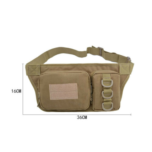 Military Cycling Runing Waist Fanny Pack Bum Belt Bag Pouch Travel Waterproof