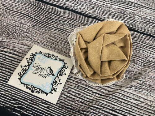 1x Little Prim Rose Clip Girls Size S//O Girls Youth Honeycomb Mustard Olive Stri