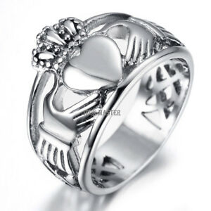 Image Is Loading The Claddagh Wedding Rings For Men Women Heart