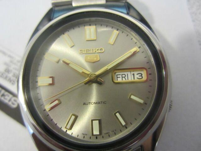 Seiko 5 Original Japan Men S Watch Automatic All Stainless S Gold Snka54k1
