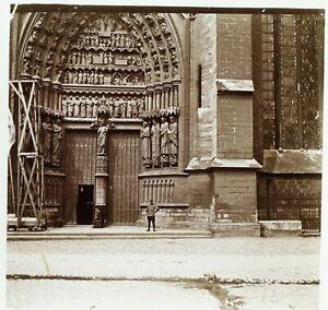 FRANCE-Paris-La-Cathedrale-de-Notre-Dame-Photo-Stereo-Plaque-Verre-VR2L5n13