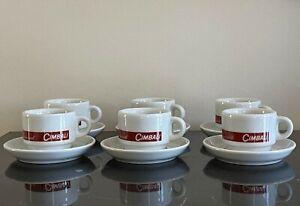 IPA Italy Ammirati Cimbali Espresso Demitasse Cups and Saucers Set of 6