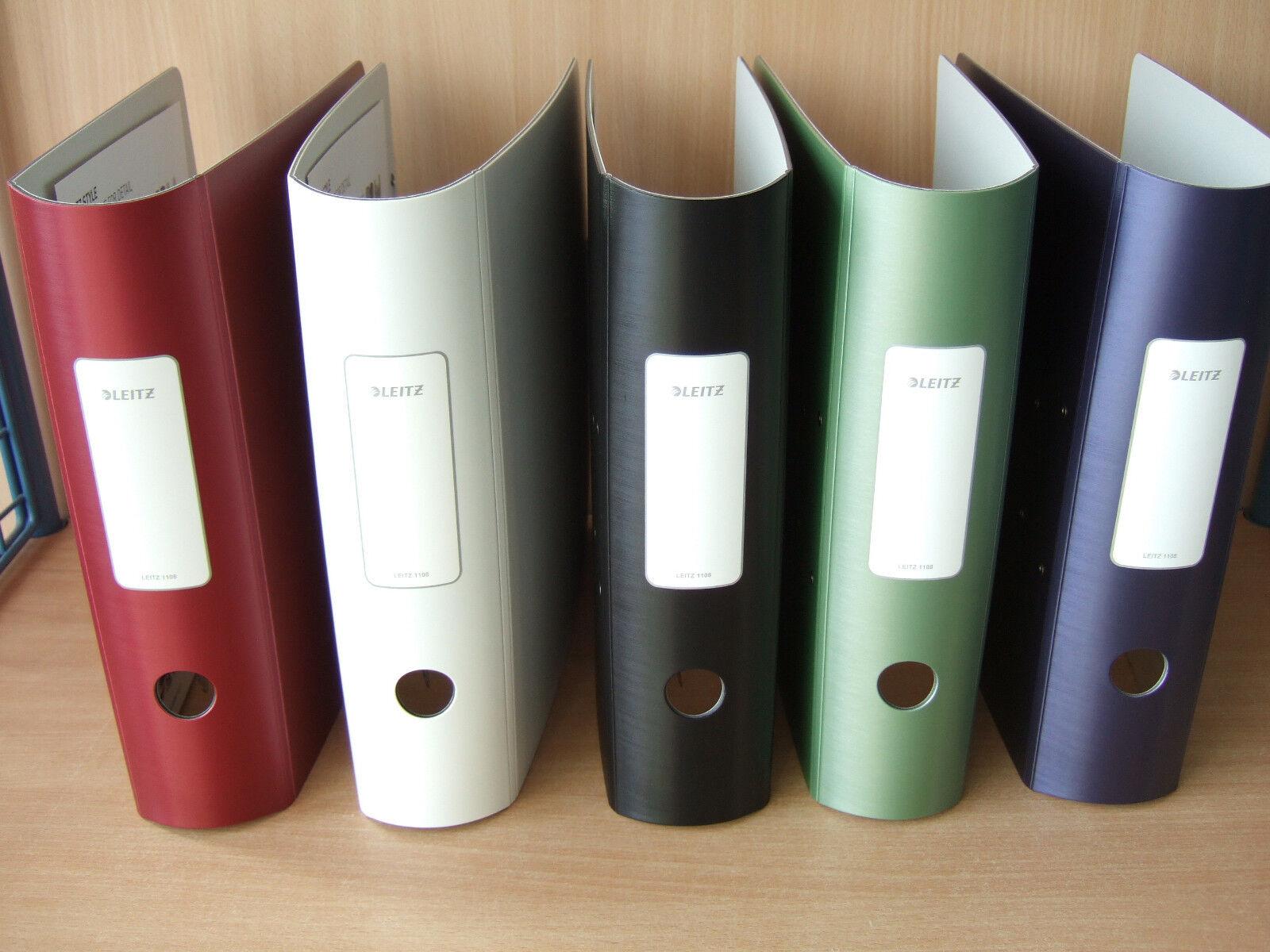 LEITZ Ordner ACTIVE STYLE Din A4 1108 1109 65 bis 82 mm Farben 1236 Register | Innovation  | Neue Sorten werden eingeführt  | Feine Verarbeitung