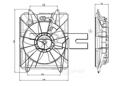 TYC 601330 Engine Cooling Fan Assembly for Honda 19015-5LA-A01 19015-R5A-A01 oc