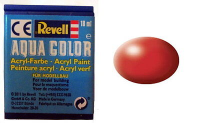 Revell 36330 - Aqua Color - Acrylfarbe - Farbe 330 - Feuerrot - satin - RAL 3000