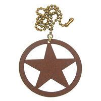 Texas Star Rust Colored Metal Ornament/fan Pull