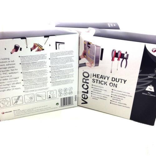 VELCRO HEAVY DUTY STICK ON 50mm x 5 meters WHITE HOOK AND LOOP SELF ADHESIVE