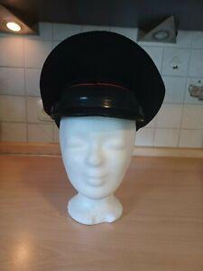 Mütze Italien, vermtl. Polizei, Größe 56, schwarz, Maße: 14×28,5×25,5 cm