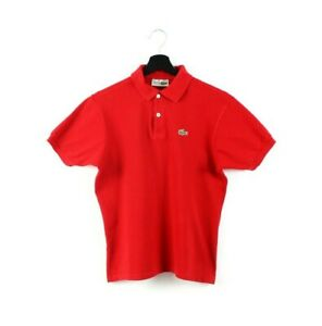 70s 80s Lacoste vintage polo t-shirt tshirt tennis court made in France red XS