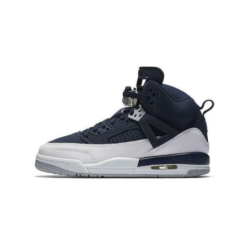 317321-406 New Air Jordan Youth Spizike GS Shoes Midnight Navy////White-Silver