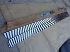Nos 1960 Ford Falcon Rocker Panel Trim Moldings Stainless Vintage Accessory Kit Ebay