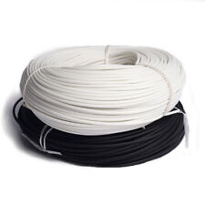 1mm 25mm Silicon Fiber Glass Sleeving Cable Wire Heat Resistant Tube Whiteblack