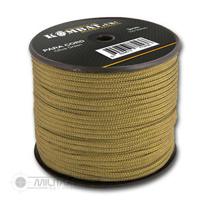 Kombat Army Military Combat Nylon Paracord Rope Bivie Reel Para Cord 100M New