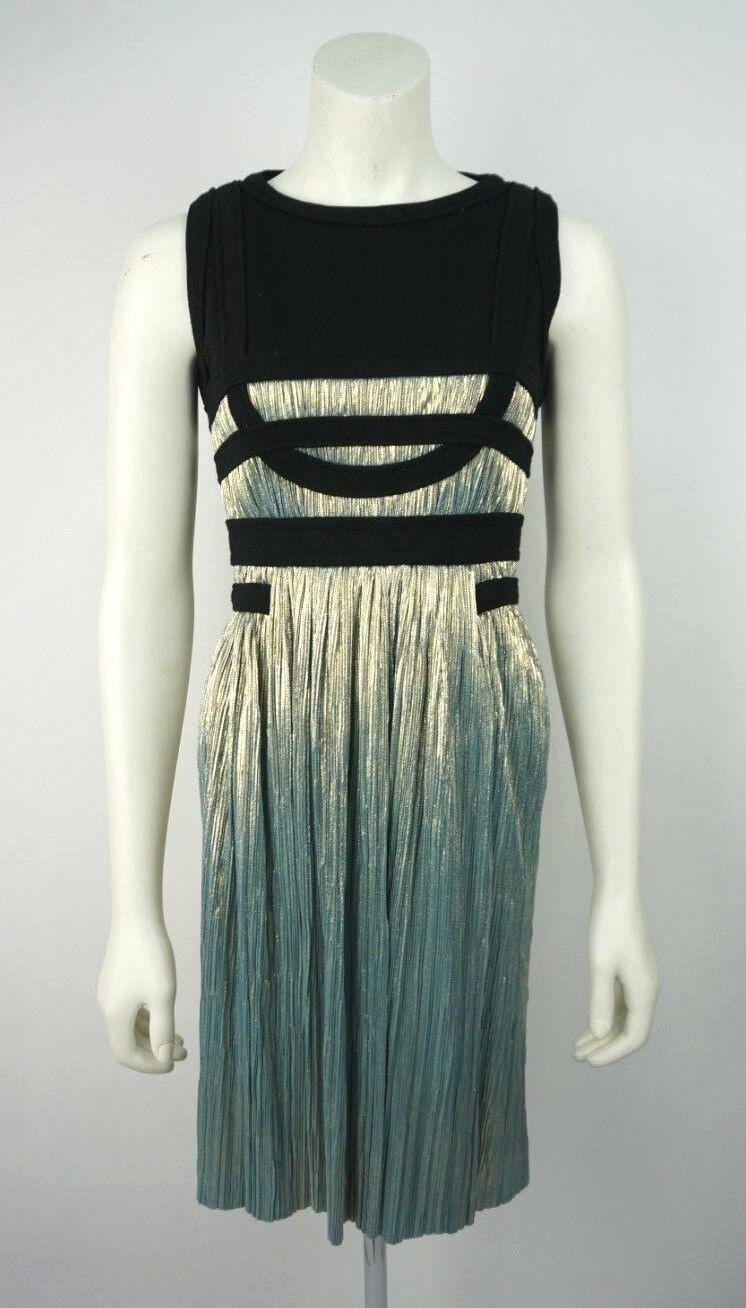 Jasmine Di Milo Size 10 UK Pleated Sleeveless Metallic Dress