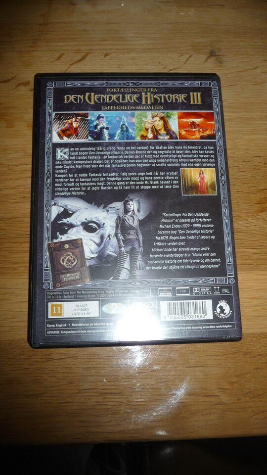 Den uendelige historie lll, DVD, eventyr