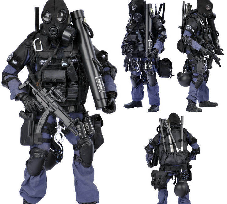 Simulation 1 6 ratio SWAT break hand TE police high-end soldier model toy