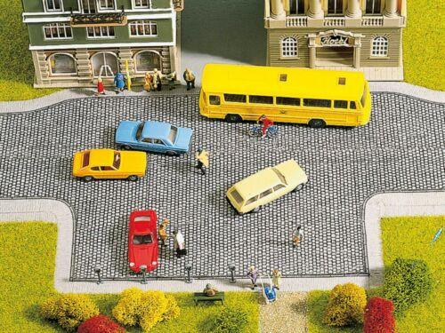 Pflasterplatz 174,75€//m² selbstklebend 2 Stück je 20 x 10 cm NOCH 60570 H0