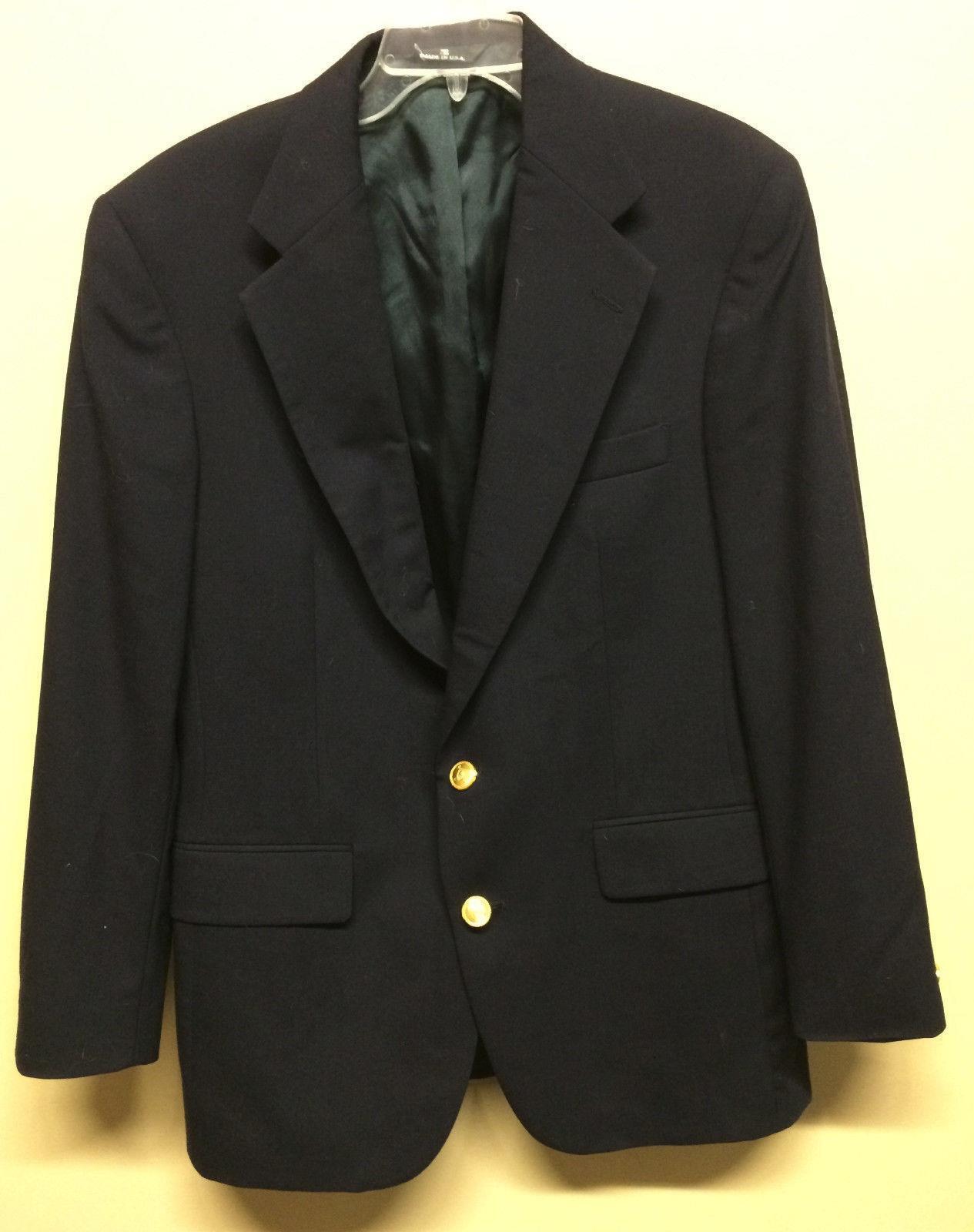 Ralph Lauren Polo University Club Virgin Wool Suit Blazer Coat  Herren Navy Medium