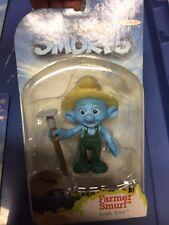 The Smurfs MOVIE Figure FARMER SMURF Grab 'Ems NIP