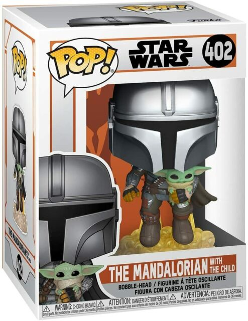 Funko Pop! Star Wars Mandalorian Flying Jetpack with The Child Vinyl Figure 402