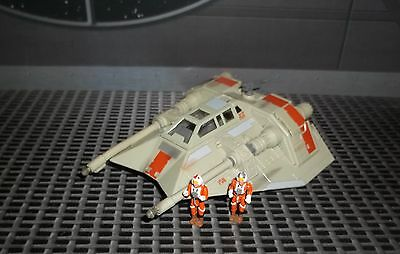 STAR WARS ACTION FLEET SERIES REBEL SNOWSPEEDER W PILOT LUKE /& GUNNER FIGURES