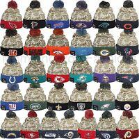 Era 2015 Nfl Salute To Service On Field Camo Pom Pom Knit Beanie Cap Hat