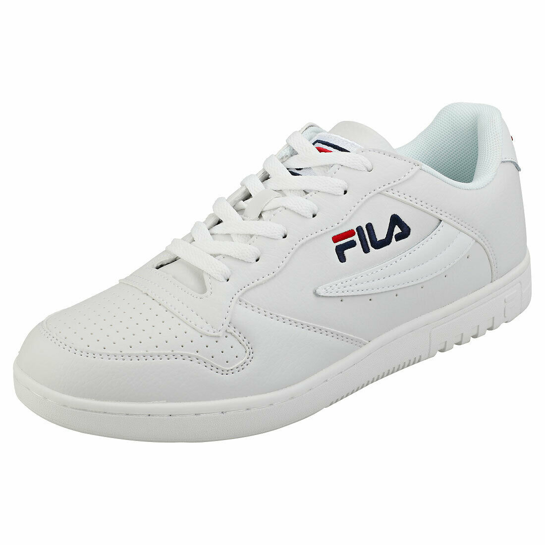 Fila Fx-100 Low Mens White Leather & Synthetic Casual Trainers