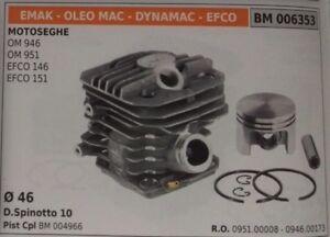 09510008 Cylindre Piston Compl Scie À ChaÎne Oleomac 946 951 Efco 146 151 Ø 46