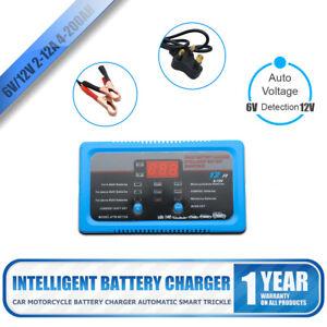 6V-12v-2A-8A-12A-Bateria-De-Coche-Smart-electronico-Rapido-Cargador-AGM-acido-humedo