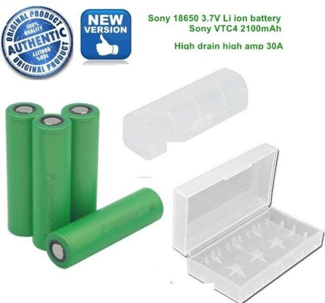 SONY VTC4 18650 30A 2100MAH IMR 3.6V VAPE RECHARGEABLE Mod Battery ( Free CASE )