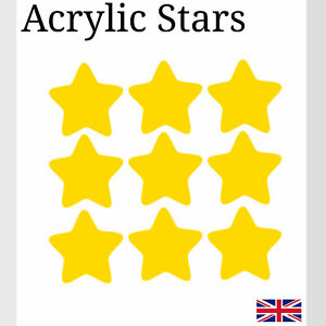 White Star With Hole Various Sizes Acrylic Plastic small Arts /& Crafts K/&M