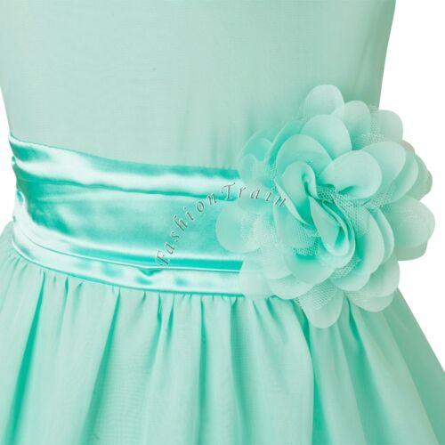 Bambine Bambini Petali Pageant Dress Flower principessa partito formale Matrimonio Damigella D/'onore