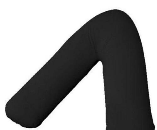 V-SHAPED BACK & NECK SUPPORT POLY COTTON BLACK PILLOW CASE COVER ONLY
