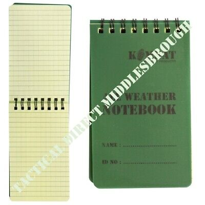 CADETS HIKERS A6 SMALL WATERPROOF SPIRAL BOUND NOTEPAD NOTEBOOK MILITARY