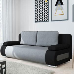 Sofa Emily Wohnzimmer Couch Farbauswahl mit Schlaffunktion und ...