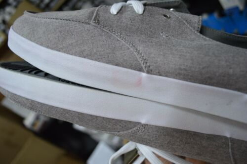 Reef Men/'s Coastal Cruisers Deck Hand 2 TX Grey White Shoes New//Defects