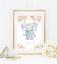 Safari-jungle-animaux-Nursery-Imprime-Set-de-3-Baby-Girl-Room-photos-Wall-Art miniature 11
