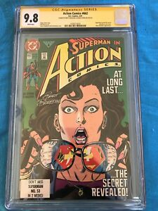 Action-Comics-662-DC-CGC-SS-9-8-Signed-by-Stern-Breeding-Superman