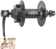 SHIMANO DEORE M525A--36H--QUICK RELEASE AXLE--6 BOLT DISC BLACK FRONT HUB